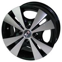 Jogo de Rodas Trevo Aro 13 x 5,5 4x100 ET40 R39 Preto Diamantado - Kr Wheels