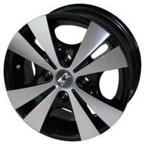 Jogo de Rodas Trevo Aro 14 x 6,0 4x100 ET40 R39 Preto Diamantado - Kr Wheels