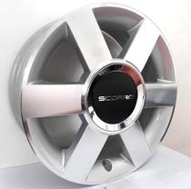 """Jogo de rodas VW Gol Aro 15"""" - Scorro S181 - Furação 4x100 - DC -"""
