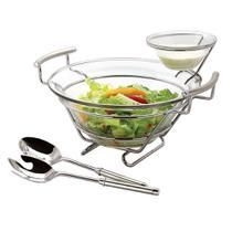 Jogo de saladas com molheira Linear Regent 13236 -