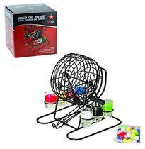 Jogo de shot / jogo de bingo de metal com 6 copos de vidro 15ml + 48 bolas na caixa - Rio De Ouro