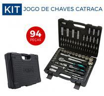 Jogo De Soquetes catraca Encaixe 1/4 E 1/2 Pol, Com 94 Pç//stels -
