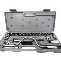Jogo De Soquetes Com 24 Pcs 8 A 32mm Encaixe 1/2 Pol - Lugatools