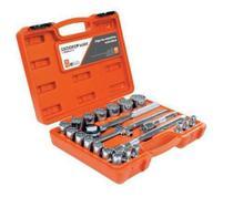 Jogo de soquetes estriados 1/2 pol 8 a 32mm com 22 peças - robust - GEDORE RED