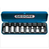 """Jogo de Soquetes Hexagonal 1/2"""" - 4 a 17mm Gedore 8 peças IN19-8M -"""