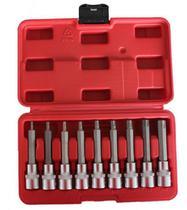 Jogo de Soquetes Tipo Torx 09 Peças com Encaixe 1/2 Pol. - DM FERRAMENTAS-DM-550 - Dm Ferramentas E Equipamentos Automotivos