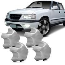 Jogo de Sub Calota Aro 15 e 16 Chevrolet S10 99 a 01 Blazer 99 a 01 Prata Centro de Roda 4 Peças - Emblemax