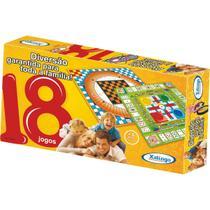 Jogo de tabuleiro 18 jogos unidade - Xalingo