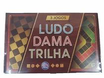 Jogo De Tabuleiro 3 Jogos Ludo Dama E Trilha - Pais E Filhos -