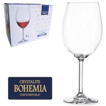 Jogo De Taca De Cristal Para Vinho Tinto Com 6 Unidades 580ML - Bohemia