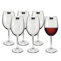Jogo de Taças 06 Peças para Vinho de Cristal Gastro 480ml Bohemia -
