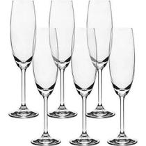 Jogo de Taças 6 Peças Champagne 220 ml Gastro Bohemia - Ricaelle