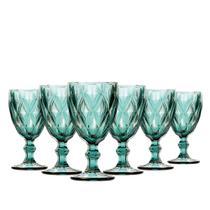 Jogo de Taças Água Diamante Tiffany 260ml Class Home -