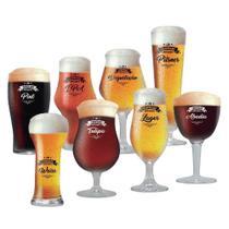 Jogo de Taças Beer Sommelier Cervejas Claras e Escuras 8 Pcs - Ruvolo