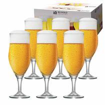 Jogo de Taças Cerveja Lubzer M Cristal 340ml 6 Pcs - Ruvolo