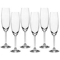 Jogo de Taças Cristal Para Champagne 6 Peças 220ml Gastro Bohemia -