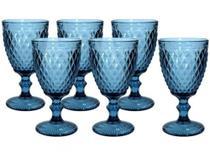 Jogo de Taças de Vidro Azul - 300 ml com 6 Peças - Casambiente -