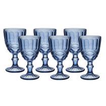 Jogo de Taças Elegance Azul 320ml 6 Peças Água Suco Drink - Haüskraft