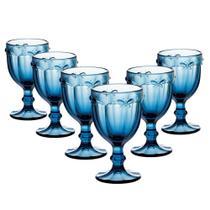 Jogo de Taças Libelula Azul 325 ml 6 peças Agua Suco Drink - Dynasty