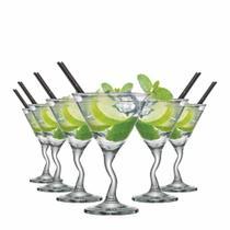 Jogo de Taças Martini Twister Vidro 225ml 6 Pcs - Ruvolo