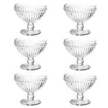 Jogo de taças para sobremesa em vidro Lyor Empire 6 peças 300ml incolor -