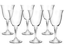 Jogo de Taças para Vinho Cristal 290ml 6 Peças - Bohemia Kleopatra