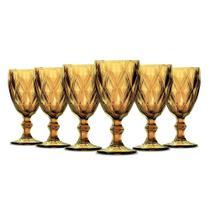 Jogo de Taças Vinho Diamante Amber 210ml Class Home -