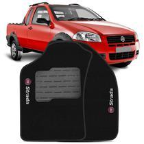 Jogo de Tapete Carpete Fiat Strada 1998 a 2012 Preto Bordado 2 Peças - Top gear