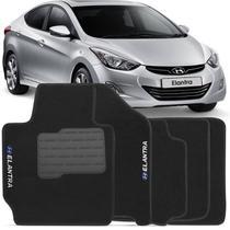 Jogo de Tapete Carpete Hyundai Elantra 2011 a 2014 Preto Bordado 5 Peças - Top gear
