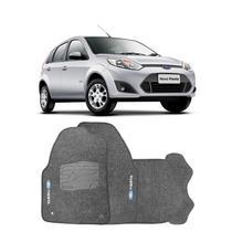 Jogo de Tapete Carpete para Ford Fiesta Rocam 2004 a 2013 - Grafite - - Original tapetes