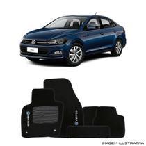 Jogo de Tapete Carpete para Volkswagen Virtus - Preto - - Original tapetes
