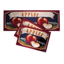 Jogo de Tapete para Cozinha Corttex Atualle Confeitare Apples Flag - FATEX IND. COM. IMP EXP. LTDA