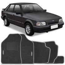 Jogo de Tapetes Ford Escort Hobby Ghia L GL XR3 93 94 95 96 Carpete Grafite Grafia Bordada 5 Peças - Combat