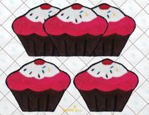 Jogo De Tapetes Para Cozinha Cupcakes - Frufru - Tapete Shop