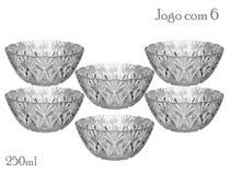 Jogo De Tigela 6 Peças Sobremesa Petisco De Vidro Bowls 250ml - Sunflower