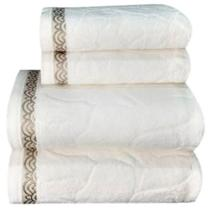 Jogo de toalha Lmpeter Sophia (02 Banho + 02 Rosto) Branco -
