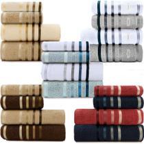 Jogo de toalhas Banhão Gigante Karsten Lumina 4 Peças - Fio Penteado - Emcompre -