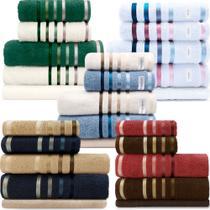 Jogo de toalhas Banhão Gigante Karsten Lumina 5 Peças - Fio Penteado - Emcompre -