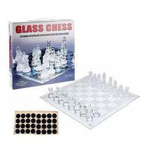 Jogo de xadrez com tabuleiro e peças de vidro 20x20cm Casita IM42045-1 -