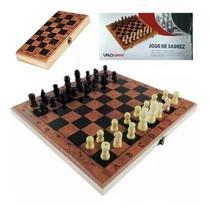 Jogo de xadrez Dobrável Peças e Tabuleiro em Madeira 24 x 24 - Uny Home