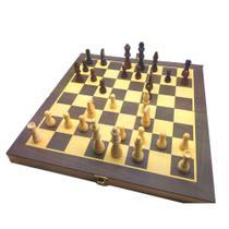 Jogo De Xadrez e Dama Em Madeira 29,5x29,5cm 2x1 Hoyle 28701 -