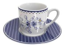 Jogo De Xícaras Café 90ml Porcelana Floral 12 Pçs Hauskraft -
