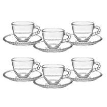 Jogo de Xícaras Café Pearl Vidro 90ml Nespresso Dolce Gusto - Hauskraft