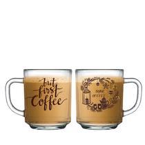 Jogo de Xicaras Canecas Copos Café First Coffee 245ml 2 Pcs - Meucopo
