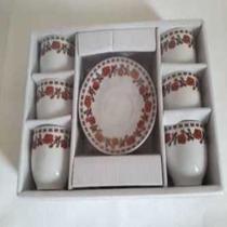 Jogo De Xicaras Ceramica Lyon Cm Pires 90 Ml  6  Pçs - Wellmix