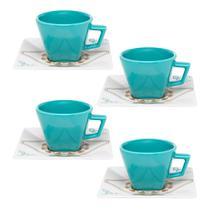 Jogo de Xícaras Chá 8 Peças Quartier Domo 200 ml Oxford -