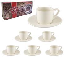 Jogo de Xícaras com 12 Peças para Café de Porcelana Branca 90ml - Haüskraft