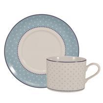 Jogo de Xícaras de Chá Com Pires 24 Peças Maitê Schmidt - Porcelana schmidt