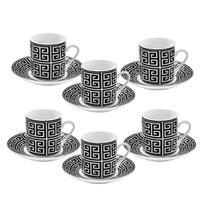 Jogo de Xícaras e Pires Porcelana 12 Pcs Café Chá Nespresso - Hauskraft