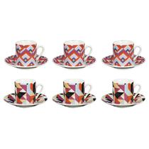 Jogo de xícaras para café em porcelana Dynasty Harmony 90ml 6 peças -